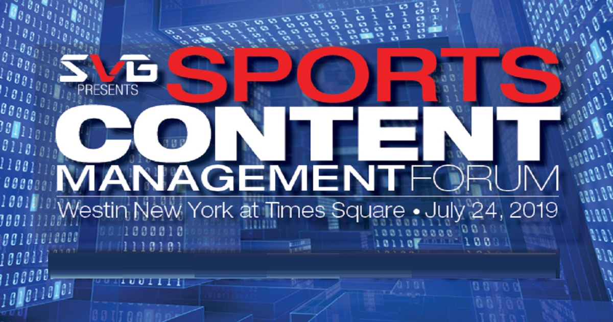 Sports Content Management Forum 2019