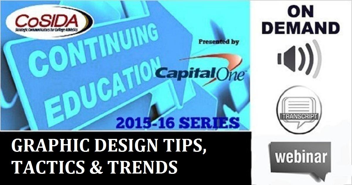 GRAPHIC DESIGN TIPS, TACTICS & TRENDS