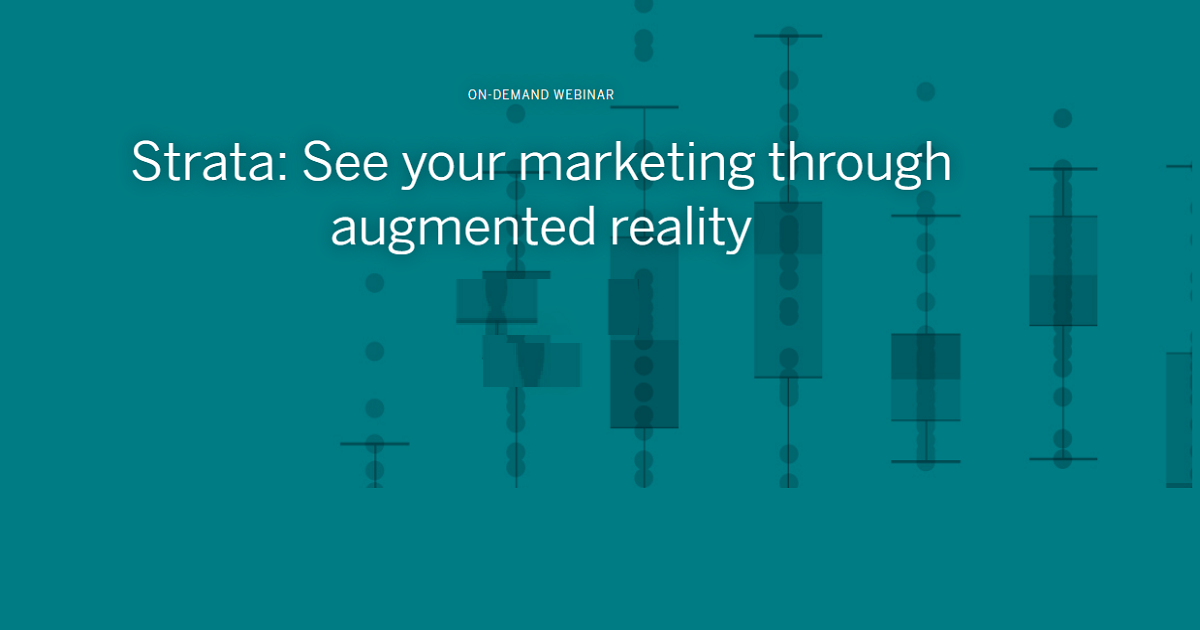 Strata: See your marketing through augmented reality