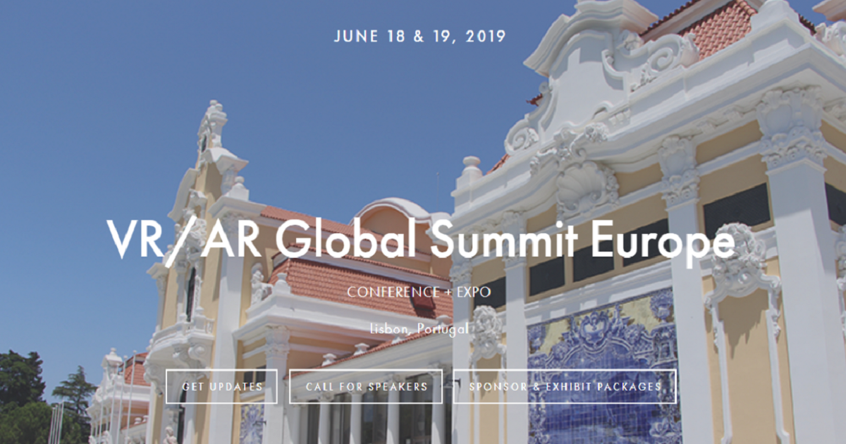 THE VR/AR GLOBAL SUMMIT EUROPE