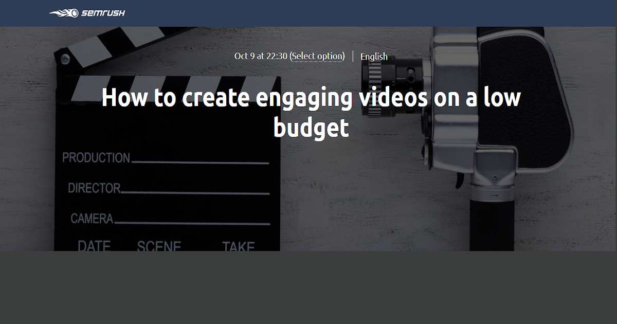 How to create engaging videos on a low budget