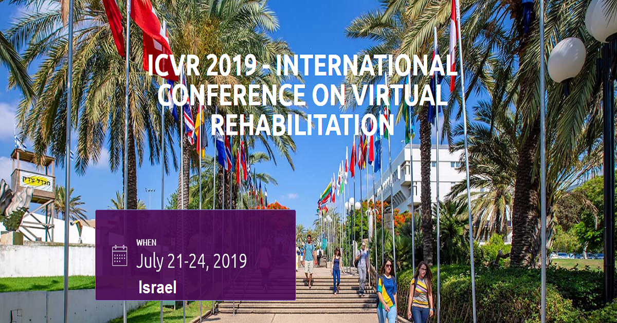 ICVR 2019 - INTERNATIONAL CONFERENCE ON VIRTUAL REHABILITATION