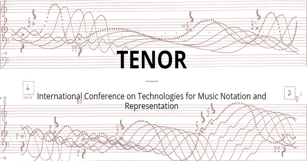 International Conference on Technologies for Music Notation and Representation