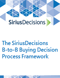 THE SIRIUSDECISIONS B-TO-B BUYING DECISION PROCESS FRAMEWORK