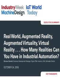 REAL WORLD, AUGMENTED REALITY, AUGMENTED VIRTUALITY, VIRTUAL REALITY  HOW MANY REALITIES CAN YOU HAVE IN INDUSTRIAL AUTOMATION?
