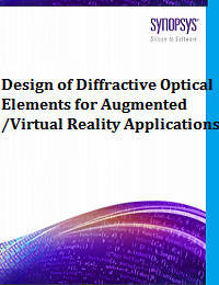 DESIGN OF DIFFRACTIVE OPTICAL ELEMENTS FOR AUGMENTED/VIRTUAL REALITY APPLICATIONS