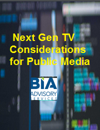NEXT GEN TV CONSIDERATIONS FOR PUBLIC MEDIA