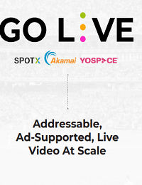 ADDRESSABLE, AD-SUPPORTED, LIVE VIDEO AT SCALE