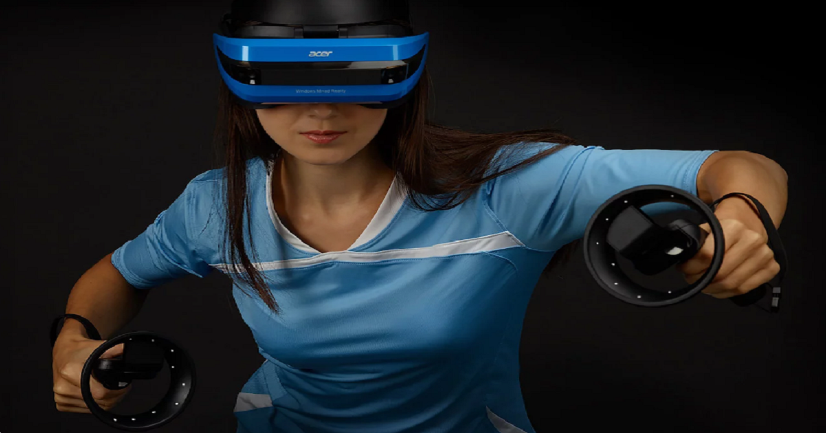 ACER WINDOWS MIXED REALITY HEADSET IMMERSES YOU IN A NEW WORLD