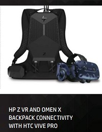 HP Z VR AND OMEN X BACKPACK CONNECTIVITY WITH HTC VIVE PRO